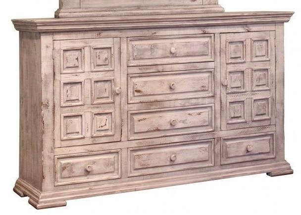 Bella Vintage White Solid Wood Dresser by International Furniture - Cox Furniture and Flooring