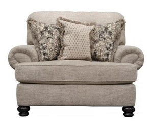Freemont Pewter Oversized Chair - Cox Furniture and Flooring