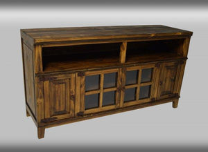 Hacienda Antique TV Stand 60 Inch and 72 Inch by Rustic Creations - Cox Furniture and Flooring