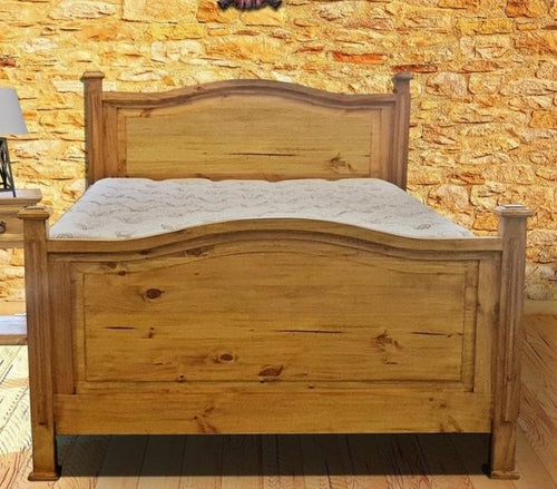 Honey Petite King Bed by Rustic Creations - Cox Furniture and Flooring