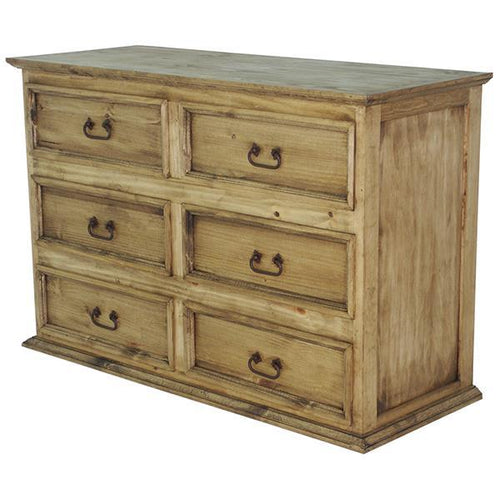 Honey Petite Solid Wood 6 Drawer Dresser by Rustic Creations - Cox Furniture and Flooring