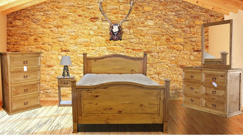 Honey Queen Bedroom Set - Cox Furniture and Flooring