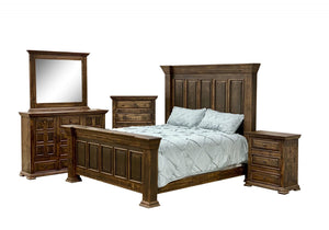 JL-32 LaFitte Espresso King Bedroom Set - Cox Furniture and Flooring