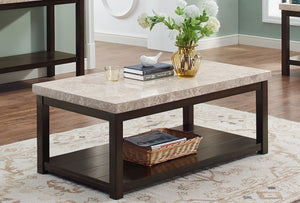 Kelia Cocktail Table with real Marble Top - Cox Furniture and Flooring
