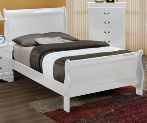 Louis Phillip White Twin Bed - Cox Furniture and Flooring