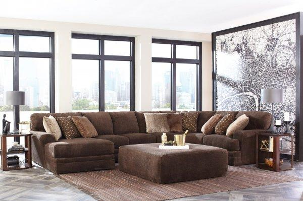 Mammoth Chocolate Sectional with Left Side Chaise Chaise by Catnapper - Cox Furniture and Flooring
