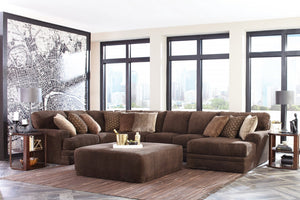 Mammoth Chocolate Sectional with Reversable Chaise - Cox Furniture and Flooring