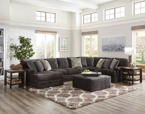 Mammoth Smoke Sectional with Reversable Chaise - Cox Furniture and Flooring