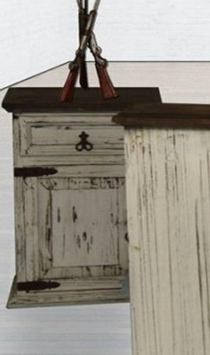 Mansion White Nightstand by Rustic Creations - Cox Furniture and Flooring