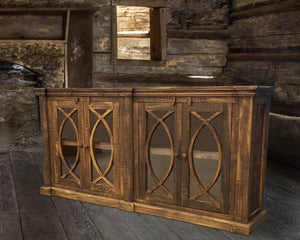 Rough Antique Solid Wood Console by Rustic Creations - Cox Furniture and Flooring