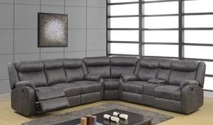 Rummy Grey Reclining Sectional - Cox Furniture and Flooring