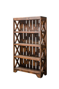 Solid Wood Rustic Bookcase - Cox Furniture and Flooring