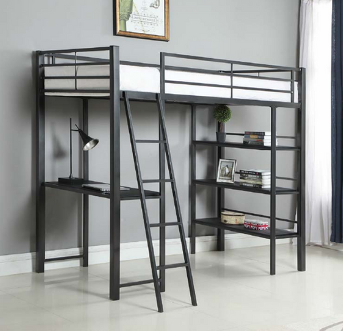 Twin Workstation Loft Bed by Coaster Furniture - Cox Furniture and Flooring
