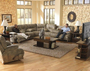 Voyager Brandy Reclining Sectional by Catnapper - Cox Furniture and Flooring