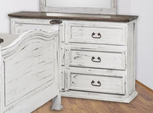 White Petite Solid Wood 6 Drawer Dresser - Cox Furniture and Flooring
