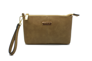 The Classic Wristlet - Tan - Magnetic Wristlet with removable handle