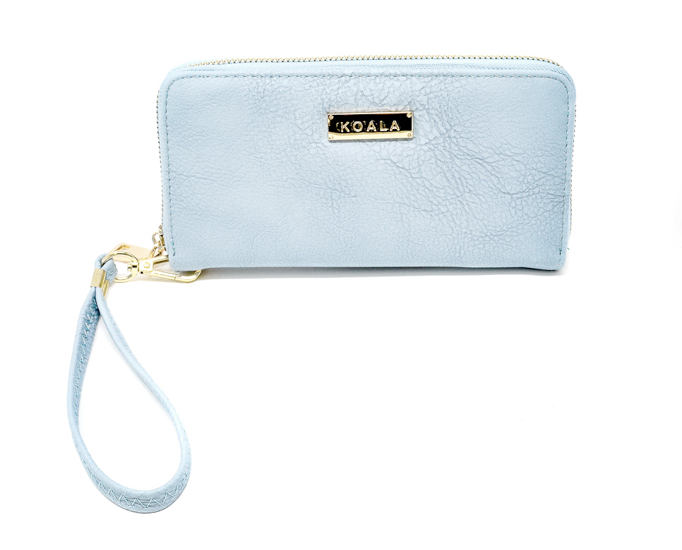 Baby Blues - Magnetic Zip Around Wallet with removable handle