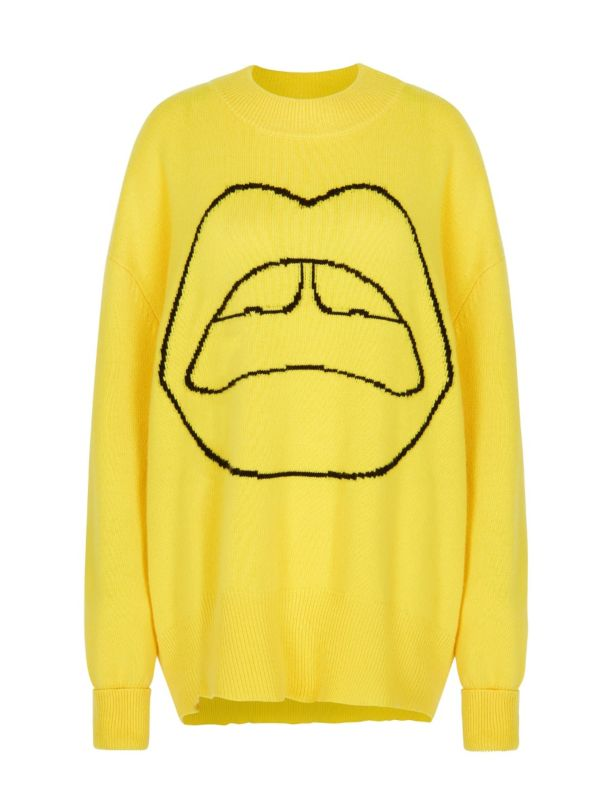 Markus Lupfer yellow Erin oversized Jumper