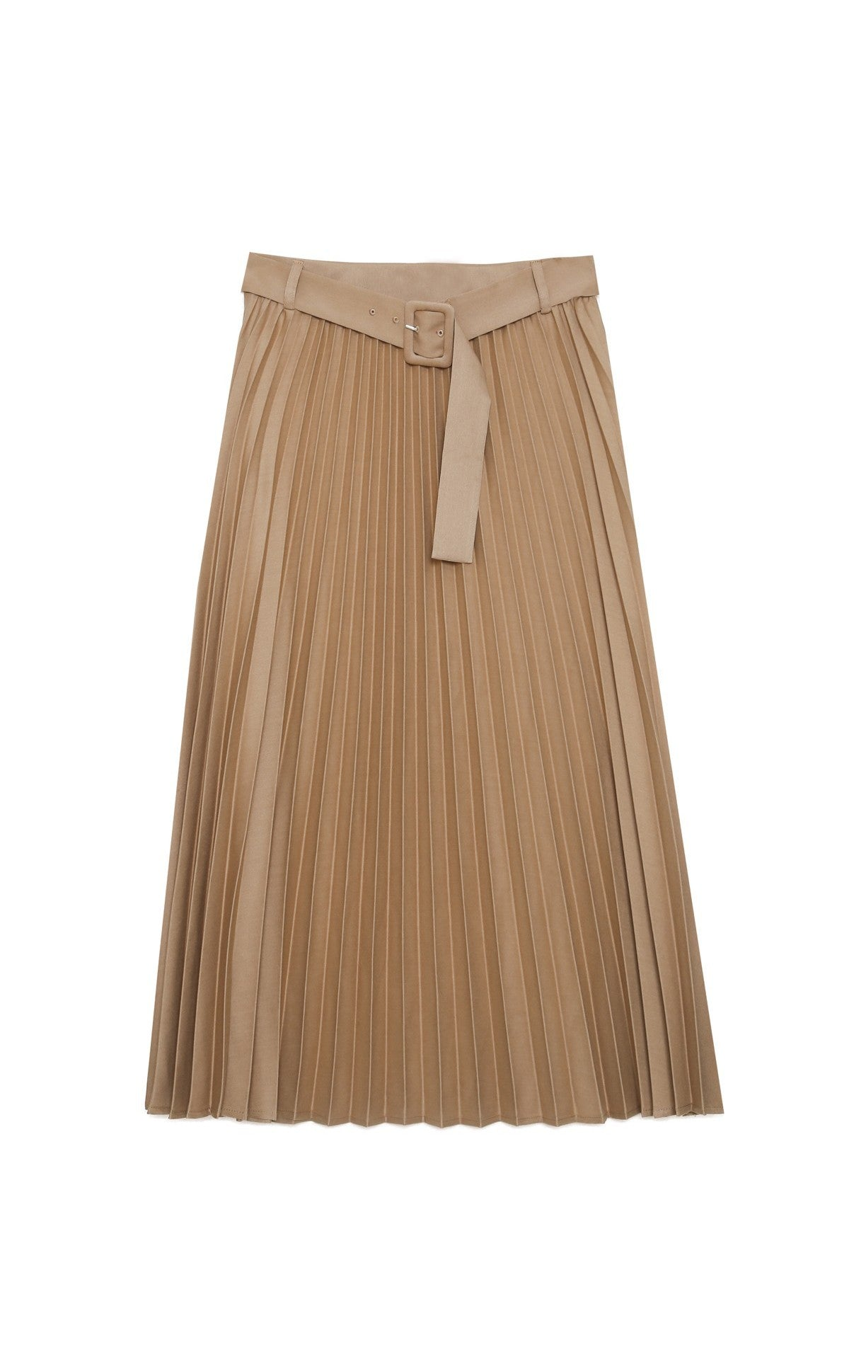 Grace and Mila camel pleated Skirt