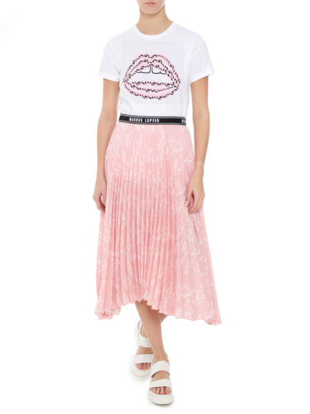 Markus Lupfer pink pleated Naomi Skirt