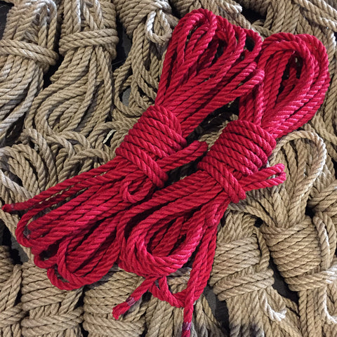 Custom Dyed Hemp Bondage Rope