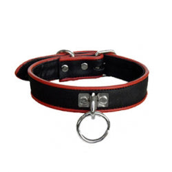 Leather Piped O-Ring Collar