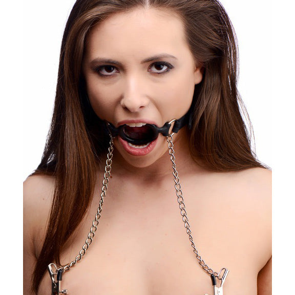 Silicone O-Ring Gag w/ Clamps