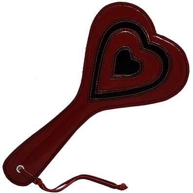 Red Patent Heart Paddle