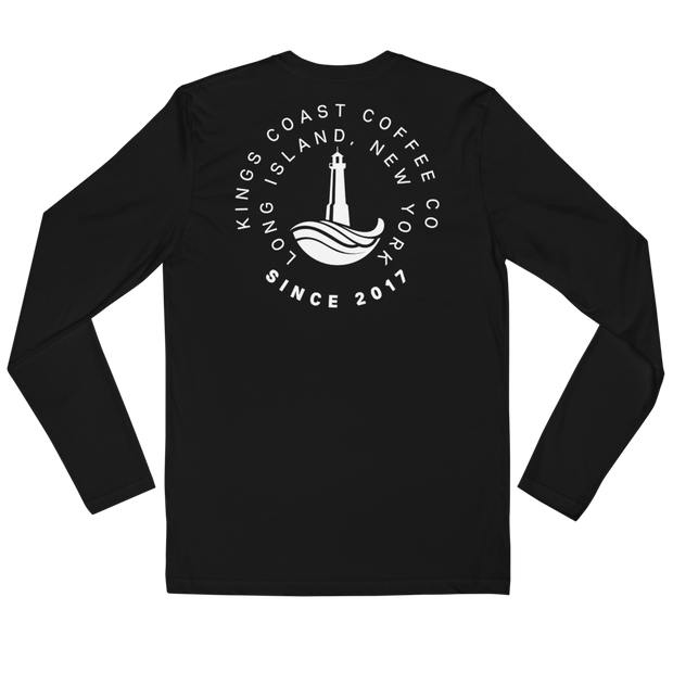 Cafe Miami Long Sleeve Fitted Crew - Kings Coast Coffee Company
