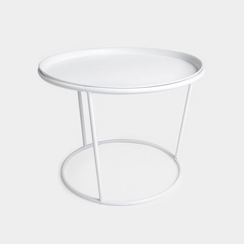 White Frame Side Table