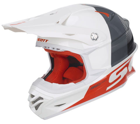 Casque 350 Pro Track ECE Blanc & Orange