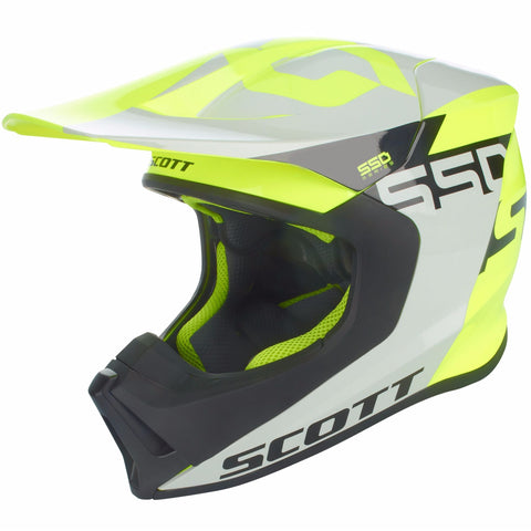 Casque 550 Woodblock Gris & Jaune