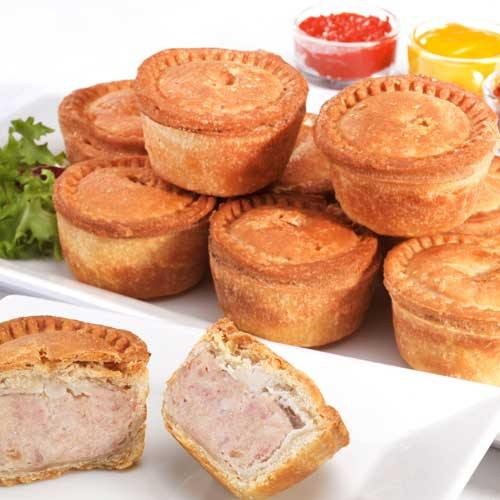 Buffet Pork Pies 6 packs of 6 units  Stobarts Europ Food Canarias