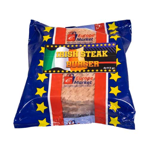 Irish steak burger 4 x 113 gr eurodrop.es