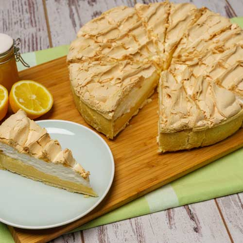 Lemon Meringue Pie (12 portions) Europ Food Canarias