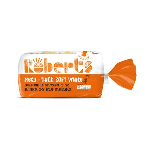 Mega Thick Soft White Sliced Bread (800g)  Roberts Europ Food Canarias