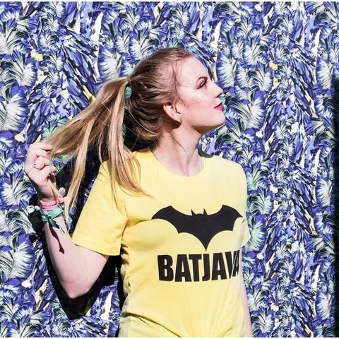 BATJAVA - Shinny Yellow Women T-Shirt for Awesome Java developers