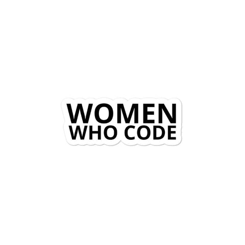 Women Who Code High-quality Vinyl Bubble-free sticker