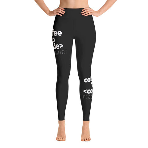 Coffee to code machine Yoga pants