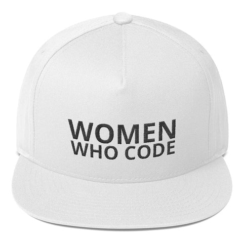 Women Who Code white snapback hat