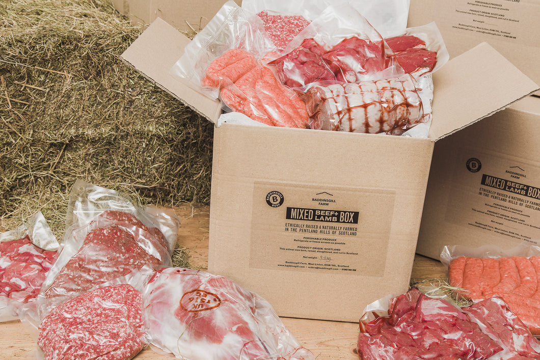 Mixed Beef and Lamb Box