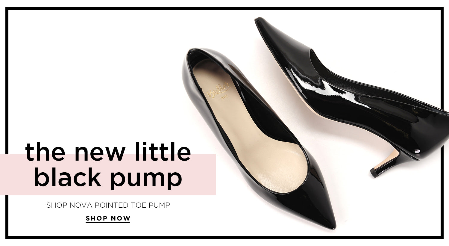 The New Little Black Pump - Shop Nova Pointed Toe Pump
