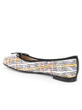 Womens METAL TWEED Pavlova Ballet Flat 2