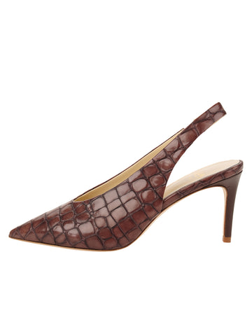 Womens Acorn Croc Leather Kaysha Pointed Toe Pump 7
