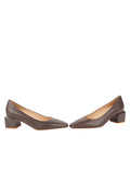 Womens Asphalt Nappa Novella Block Heeled Pump 5