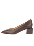 Womens Asphalt Nappa Novella Block Heeled Pump 7