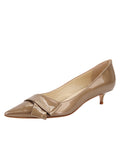 Womens Beige Cosmic Patent Bliss Kitten Heel