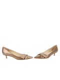 Womens Beige Cosmic Patent Bliss Kitten Heel 5