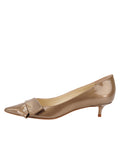 Womens Beige Cosmic Patent Bliss Kitten Heel 7