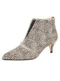 Womens Beige Spotted Pony Brandi Pointed Toe Bootie
